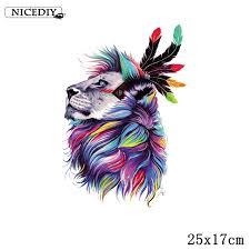 <b>Nicediy</b> Animal Watercolor <b>Patch</b> Iron On <b>Patches For</b> Clothing Heat ...