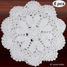 Creative Linens 6PCS 8 Inch Round Handmade ... - Amazon.com