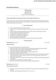 Social Worker Resume Objective   Resume Examples social worker resume objective   entry level social work resume