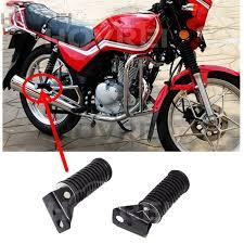<b>1</b> Pair <b>Motorcycle</b> Rear Foot Pedal Rests <b>CNC</b> Aluminum Motor ...