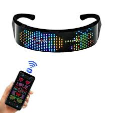 <b>Smart Customizable LED Glowing</b> Glasses Luminous Flashing ...