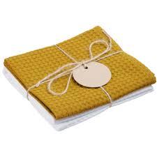<b>Набор кухонных полотенец</b> Good Wipe, белый с желтым ...