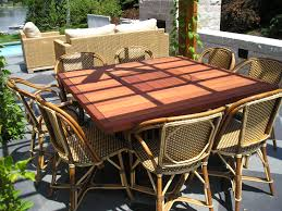 patio dining: diy square rustic outdoor dining table with rattan chairs diy large square rustic outdoor dining