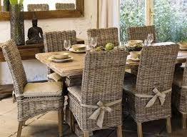 dining table parson chairs interior: furniture middot rustic dining table and wicker parsons