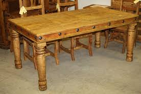 miller rustic dining table large