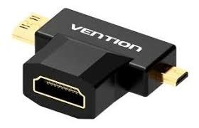 <b>Переходник Vention HDMI</b> 19F - Mini <b>HDMI</b> + Micro <b>HDMI</b> (AGDB0 ...