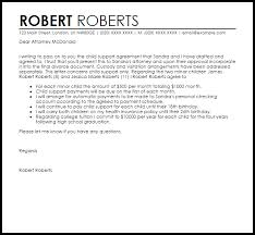 Child Support Agreement Letter   Agreement Letters   LiveCareer Child Support Agreement Letter Sample