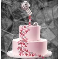 Confetti <b>Hearts of Love</b> Wedding Cake   Wilton