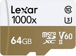 <b>Lexar</b> Professional 1000x <b>64GB</b> microSDXC UHS-II <b>Card</b>