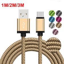 <b>1M</b>/<b>2M</b>/<b>3M Braided</b> Type-C USB3.1 Fast Charging Data Phone ...