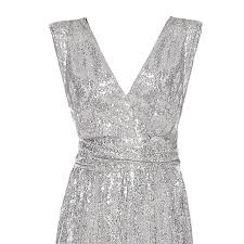 Mnowson Womens <b>Large Size Solid Color</b> Deep V Sequins ...