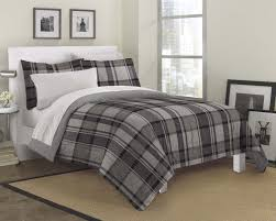 gray black white plaid masculine bedding teen boy twin full queen bed in a bag set home decor charming bedroom ideas black white