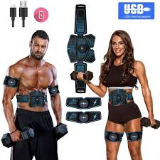 <b>Portable Abs</b> Stimulator Muscle Toner Rechargeable Muscle Trainer ...