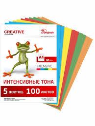 <b>Бумага цветная</b> - <b>Creative</b> color ИНТЕНСИВ 5 цветов - 100 листов ...
