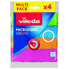 ROZETKA | <b>Салфетка</b> микрофибра <b>Vileda</b> Microfibre <b>Color</b> 4 шт ...