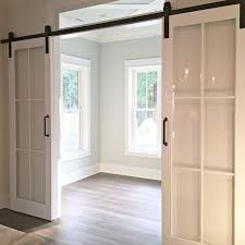 home office doors with glass. a crisp alternative to barn doors iu0027m liking this look home office with glass i