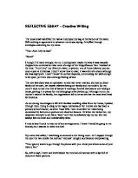 reflective essay   gcse english   marked by teacherscom page  zoom in