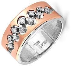 KABAROVSKY <b>Кольцо с 11 бриллиантами</b> из красного золота 11 ...