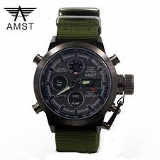 <b>Luxury Watch Men Famous</b> Brand AMST Military Watches Men ...