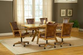 Dining Room Chairs With Arms And Casters Dining Room Gorgeous Furniture For Dining Room Decoration Idea