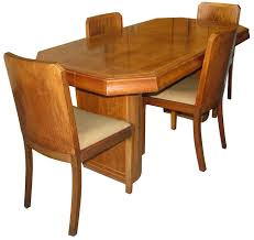 art deco dining table and 4 chairs art deco dining suite