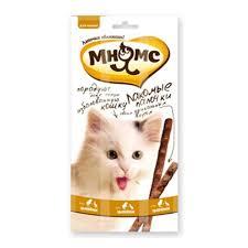 Лакомство <b>Мнямс лакомые палочки для</b> кошек, с цыпленком и ...