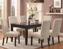 chair dining tables room contemporary:  dining room contemporary marble dining set furniture outlet regarding parsons good marble dining room table