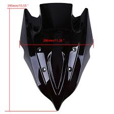 <b>POSSBAY</b> ABS Plastic <b>Motorcycle Windshield Windscreen</b> Double ...
