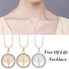 Vintage Party <b>Engagement Hallow Out</b> Tree Of Life Pendant Necklace