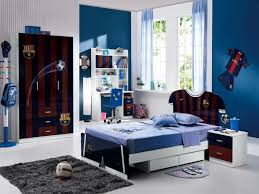mind blowing images of sport theme kid bedroom design and decoration ideas archaic blue football blue themed boy kids bedroom
