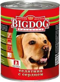 Корм для собак <b>ЗООГУРМАН Big</b> Dog Телятина с сердцем ж/б ...