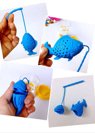 China Novelty <b>Gold Fish Silicone</b> Loose Tea Infuser Great Stocking ...