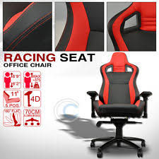 universal blackred stitches pvc leather mu racing bucket seat office chair c03 fits bmw 635csi bmw z3 office chair seat
