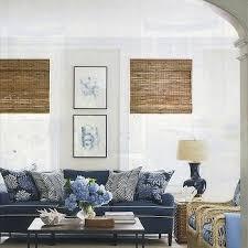room navy blue couch studio