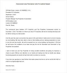 commercial lease termination letter to landlord free download rental termination letter to tenant