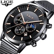 2019 LIGE <b>Mens Watches Top Brand</b> Luxury Men's Military Sports ...