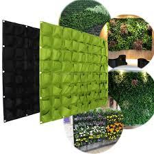 pocket indoor waterproof vertical living wall  wall pockets hanging garden wall flower planter bag indoor outdoor he