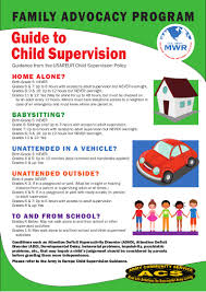 usaeur child supervision guidelines