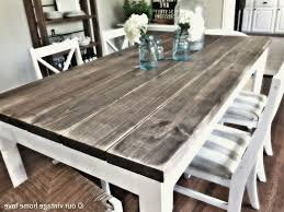 Distressed White Kitchen Table Rustic White Dining Table
