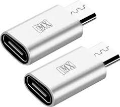 MX <b>2Pcs</b> of <b>Type</b>-<b>C</b> Female to Micro <b>USB</b> Type B 2.0 Male Data ...