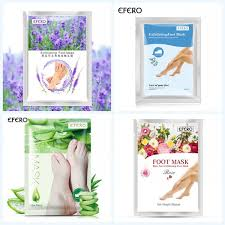 efero 2pcs 1pair exfoliating foot aloe mask for legs moisturizing exfoliation feet remove dead skin peeling pedicure socks
