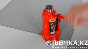 <b>Домкрат гидравлический бутылочный</b>, 10 т, h подъема 200-385 ...