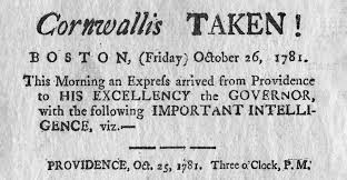 「charles cornwallis surrender」の画像検索結果