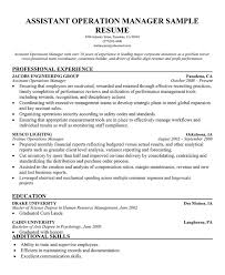 operations assistant resume   sales   assistant   lewesmrsample resume  assistant operation manager resume