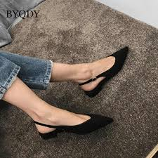 <b>BYQDY Women</b> Ankle Boots Lace Up <b>Pointed Toe</b> Stilettos Shoes ...