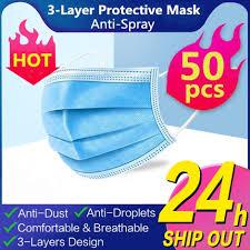 Face <b>Mask 3</b>-<b>Ply</b> - <b>Anti</b>-<b>dust</b>/Dust Proof (50 Pcs)   Shopee Malaysia