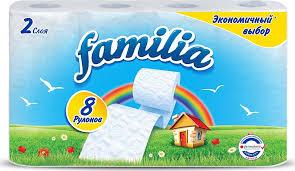 """<b>Туалетная бумага Familia</b> """"<b>Радуга</b>"""", двухслойная, в ассортименте ..."""