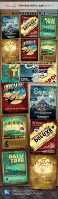17 best images about vintage flyers adobe photoshop vintage fruit crate label flyer template set