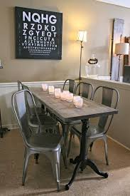 metal dining table base legs bennysbrackets: weathered wood dining table restoration hardware metal chairs glassybaby drafting table base