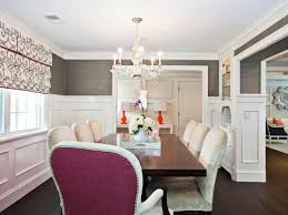 Two Toned Dining Room Sets Two Toned Upholstered Chairs In Traditional Gray Dining Room Toned